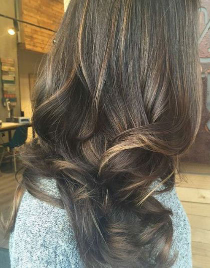 Californian hair for brunettes